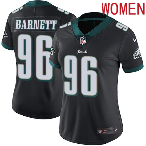 2019 Women Philadelphia Eagles 96 Barnett black Nike Vapor Untouchable Limited NFL Jersey