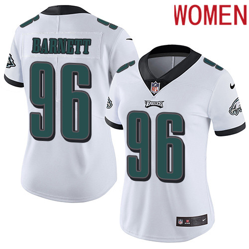 2019 Women Philadelphia Eagles 96 Barnett white Nike Vapor Untouchable Limited NFL Jersey
