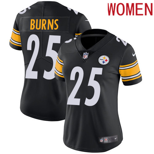2019 Women Pittsburgh Steelers 25 Burns black Nike Vapor Untouchable Limited NFL Jersey