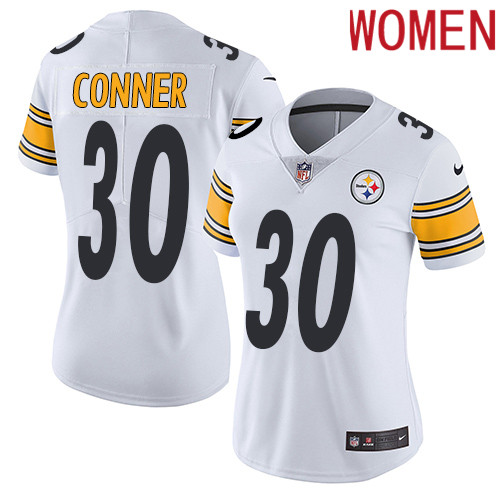 2019 Women Pittsburgh Steelers 30 Conner white Nike Vapor Untouchable Limited NFL Jersey