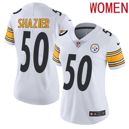 2019 Women Pittsburgh Steelers 50 Shazier white Nike Vapor Untouchable Limited NFL Jersey
