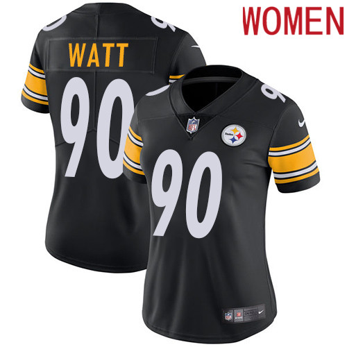 2019 Women Pittsburgh Steelers 90 Watt black Nike Vapor Untouchable Limited NFL Jersey