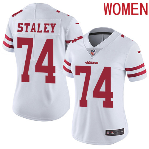 2019 Women San Francisco 49ers 74 Staley white Nike Vapor Untouchable Limited NFL Jersey
