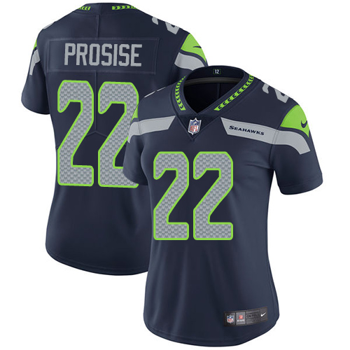 2019 Women Seattle Seahawks 22 Prosise blue Nike Vapor Untouchable Limited NFL Jersey
