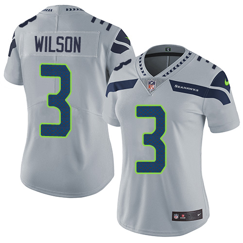 2019 Women Seattle Seahawks 3 Wilson grey Nike Vapor Untouchable Limited NFL Jersey