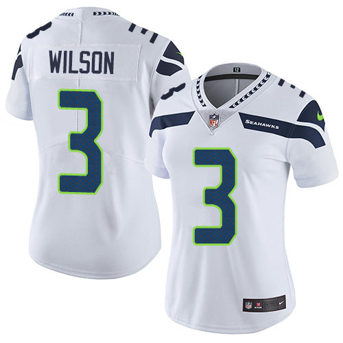 2019 Women Seattle Seahawks 3 Wilson white Nike Vapor Untouchable Limited NFL Jersey