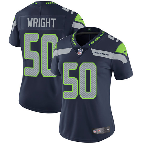 2019 Women Seattle Seahawks 50 Wright blue Nike Vapor Untouchable Limited NFL Jersey