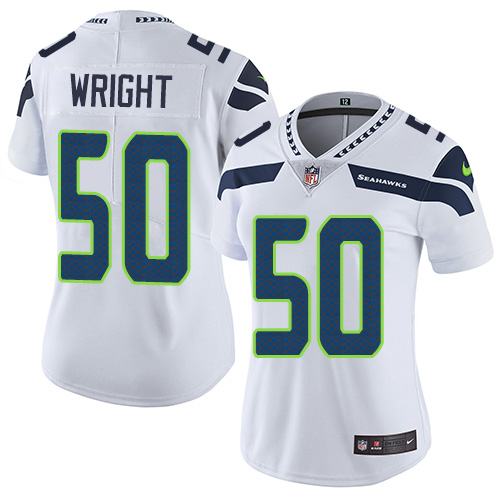2019 Women Seattle Seahawks 50 Wright white Nike Vapor Untouchable Limited NFL Jersey