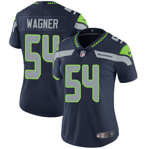 2019 Women Seattle Seahawks 54 Wagner blue Nike Vapor Untouchable Limited NFL Jersey