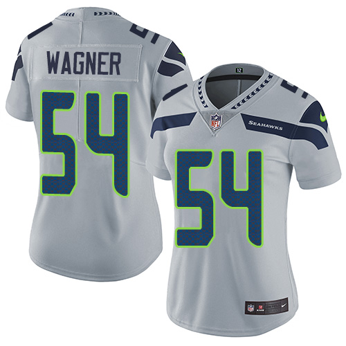 2019 Women Seattle Seahawks 54 Wagner grey Nike Vapor Untouchable Limited NFL Jersey