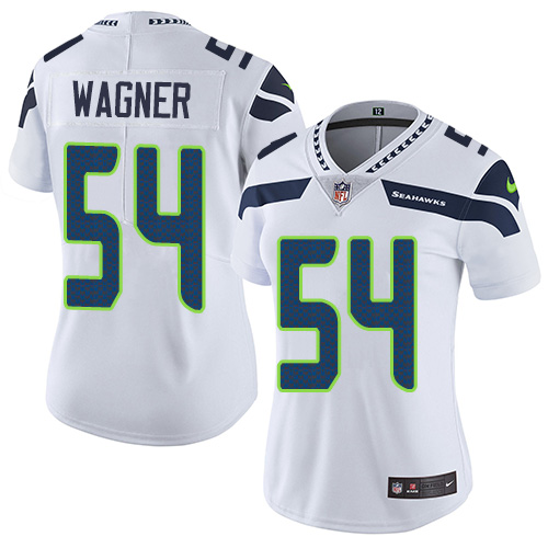 2019 Women Seattle Seahawks 54 Wagner white Nike Vapor Untouchable Limited NFL Jersey