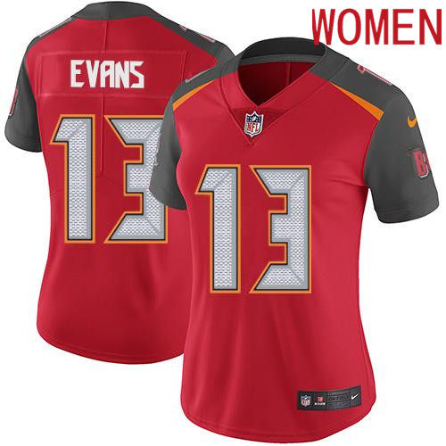 2019 Women Tampa Bay Buccaneers 13 Evans red Nike Vapor Untouchable Limited NFL Jersey