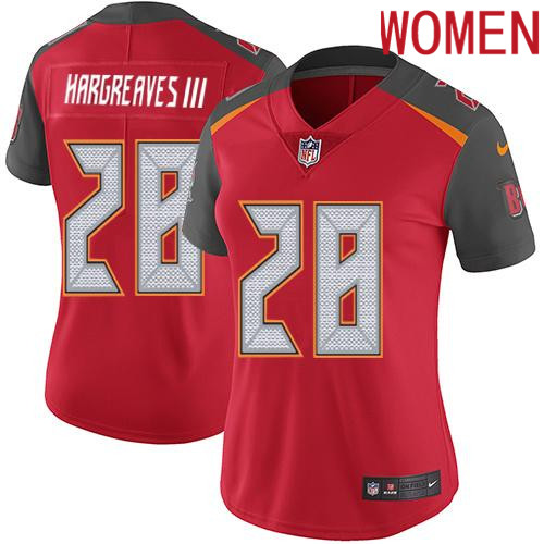 2019 Women Tampa Bay Buccaneers 28 Hargreaves III red Nike Vapor Untouchable Limited NFL Jersey