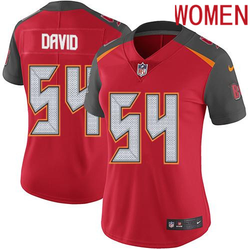 2019 Women Tampa Bay Buccaneers 54 David red Nike Vapor Untouchable Limited NFL Jersey