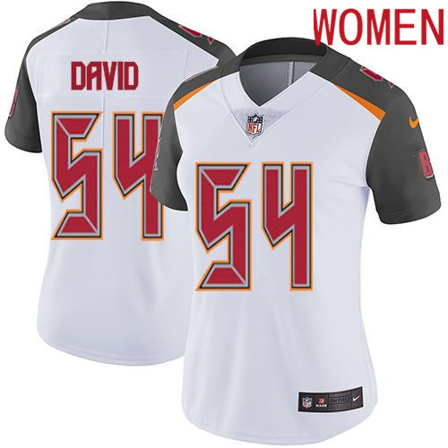 2019 Women Tampa Bay Buccaneers 54 David white Nike Vapor Untouchable Limited NFL Jersey