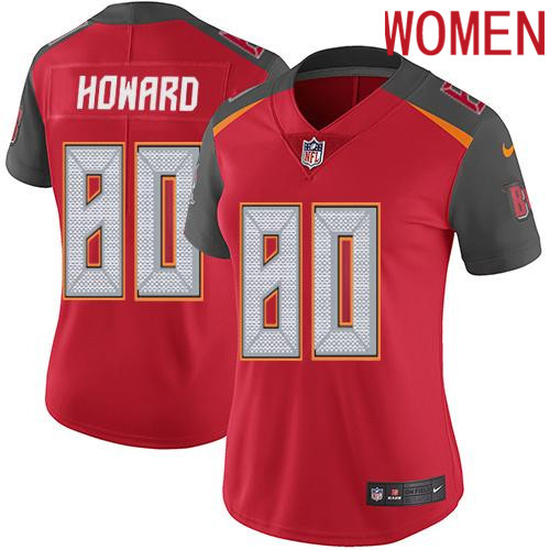 2019 Women Tampa Bay Buccaneers 80 Howard red Nike Vapor Untouchable Limited NFL Jersey