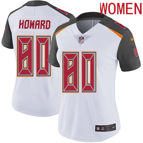 2019 Women Tampa Bay Buccaneers 80 Howard white Nike Vapor Untouchable Limited NFL Jersey
