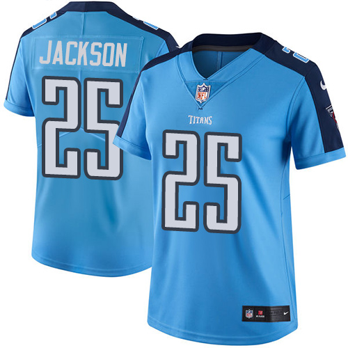 2019 Women Tennessee Titans 25 Jackson light blue Nike Vapor Untouchable Limited NFL Jersey