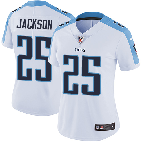 2019 Women Tennessee Titans 25 Jackson white Nike Vapor Untouchable Limited NFL Jersey