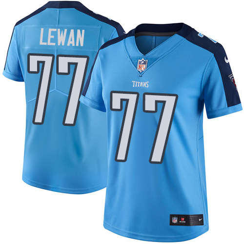 2019 Women Tennessee Titans 77 Lewan light blue Nike Vapor Untouchable Limited NFL Jersey