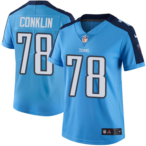 2019 Women Tennessee Titans 78 Conklin light blue Nike Vapor Untouchable Limited NFL Jersey