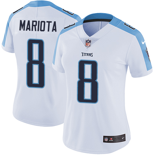 2019 Women Tennessee Titans 8 Mariota white Nike Vapor Untouchable Limited NFL Jersey