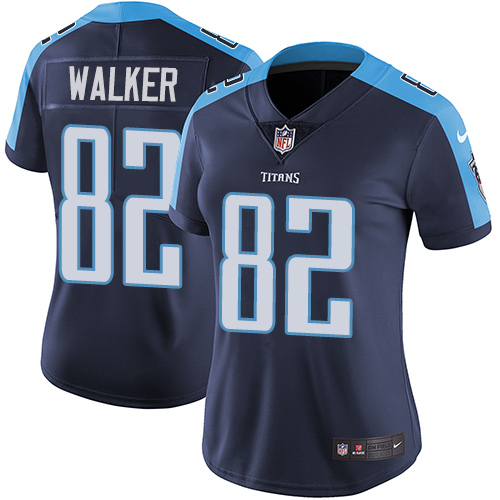2019 Women Tennessee Titans 82 Walker blue Nike Vapor Untouchable Limited NFL Jersey