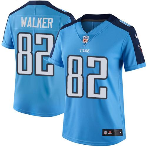 2019 Women Tennessee Titans 82 Walker light blue Nike Vapor Untouchable Limited NFL Jersey