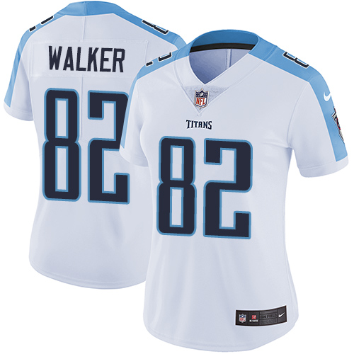 2019 Women Tennessee Titans 82 Walker white Nike Vapor Untouchable Limited NFL Jersey