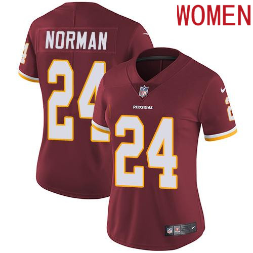 2019 Women Washington Redskins 24 Norman red Nike Vapor Untouchable Limited NFL Jersey
