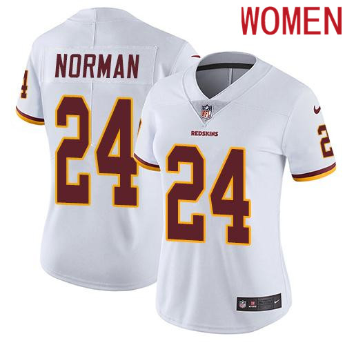 2019 Women Washington Redskins 24 Norman white Nike Vapor Untouchable Limited NFL Jersey
