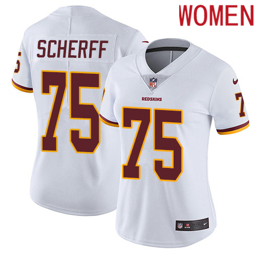 2019 Women Washington Redskins 75 Scherff white Nike Vapor Untouchable Limited NFL Jersey