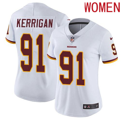 2019 Women Washington Redskins 91 Kerrigan White Nike Vapor Untouchable Limited NFL Jersey