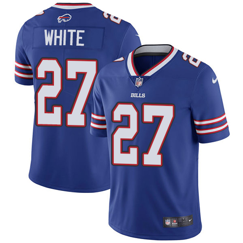 2019 men Buffalo Bills 27 White blue Nike Vapor Untouchable Limited NFL Jersey