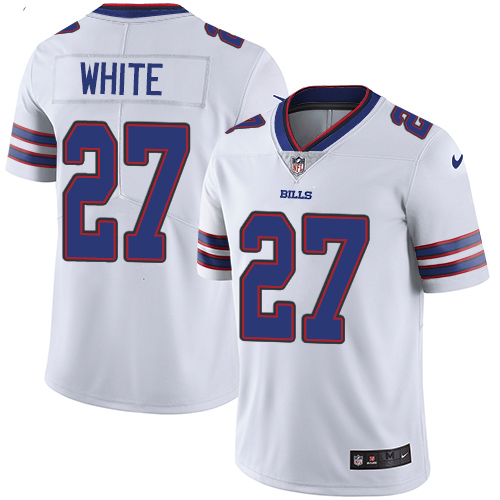 2019 men Buffalo Bills 27 White white Nike Vapor Untouchable Limited NFL Jersey