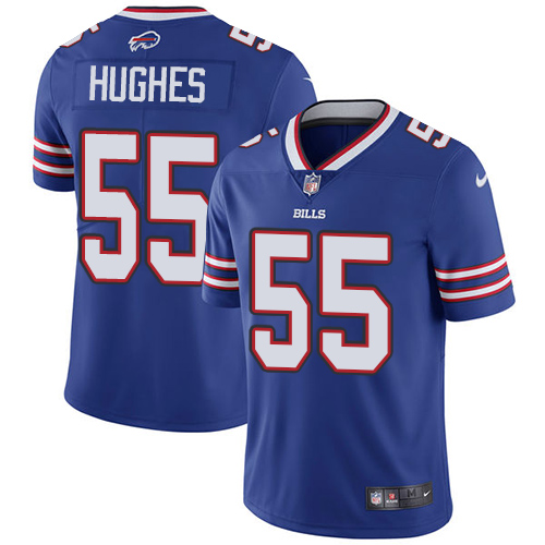 2019 men Buffalo Bills 55 Hughes blue Nike Vapor Untouchable Limited NFL Jersey