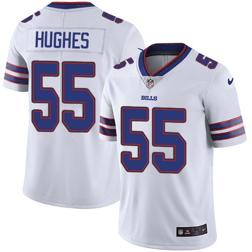2019 men Buffalo Bills 55 Hughes white Nike Vapor Untouchable Limited NFL Jersey