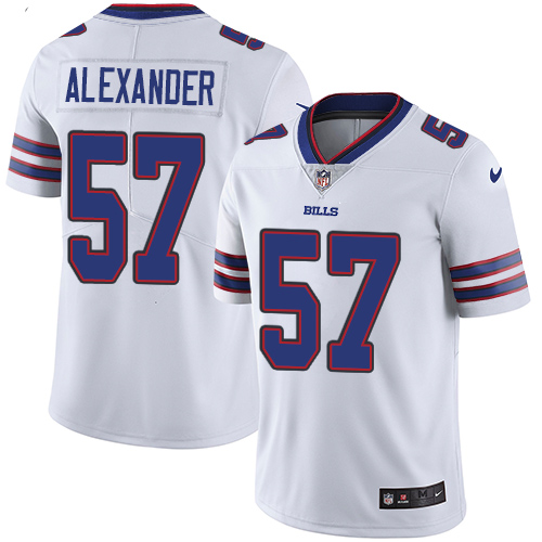 2019 men Buffalo Bills 57 Alexander white Nike Vapor Untouchable Limited NFL Jersey