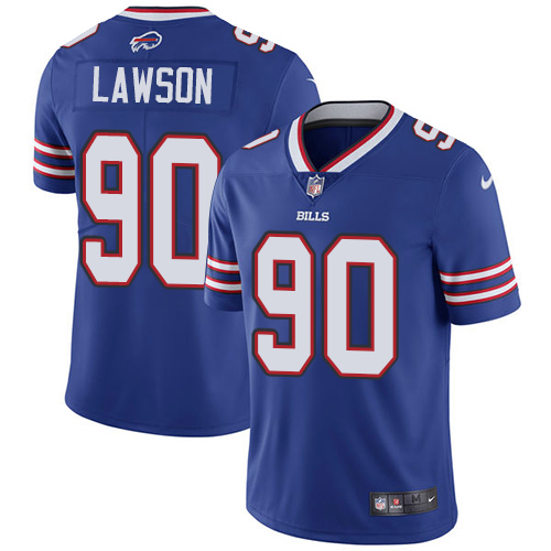 2019 men Buffalo Bills 90 Lawson blueNike Vapor Untouchable Limited NFL Jersey