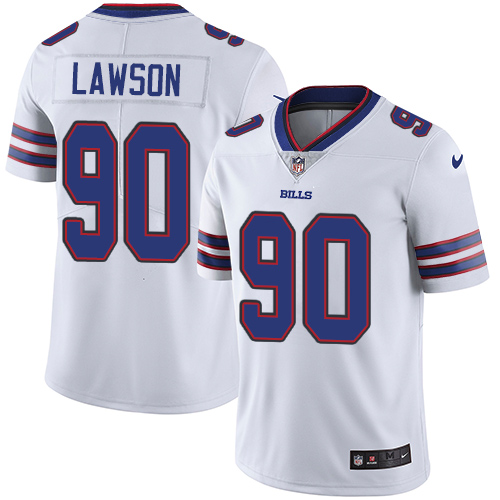 2019 men Buffalo Bills 90 Lawson white Nike Vapor Untouchable Limited NFL Jersey