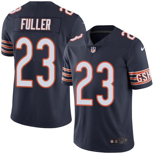 2019 men Chicago Bears 23 Fuller BLUE Nike Vapor Untouchable Limited NFL Jersey