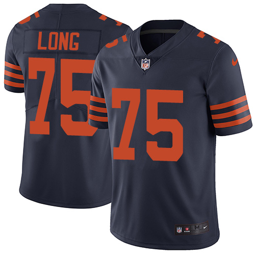 2019 men Chicago Bears 75 Long blue Nike Vapor Untouchable Limited NFL Jersey style 2