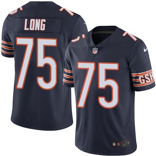 2019 men Chicago Bears 75 Long blue Nike Vapor Untouchable Limited NFL Jersey