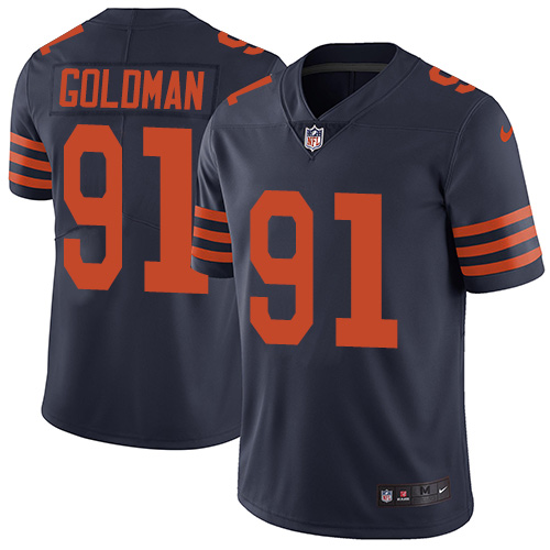 2019 men Chicago Bears 91 Goldman blue Nike Vapor Untouchable Limited NFL Jersey