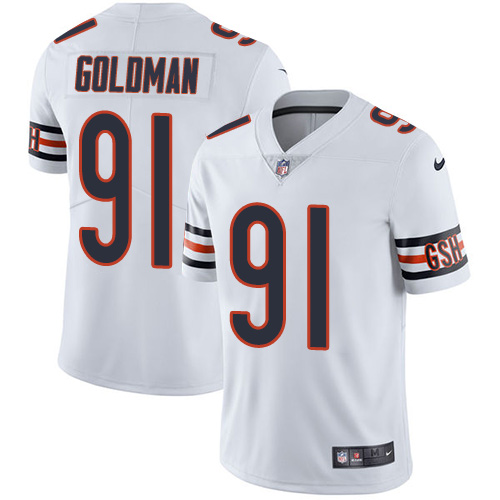 2019 men Chicago Bears 91 Goldman white Nike Vapor Untouchable Limited NFL Jersey style 2
