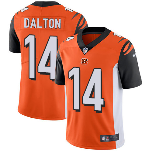 2019 men Cincinnati Bengals 14 Dalton orange Nike Vapor Untouchable Limited NFL Jersey