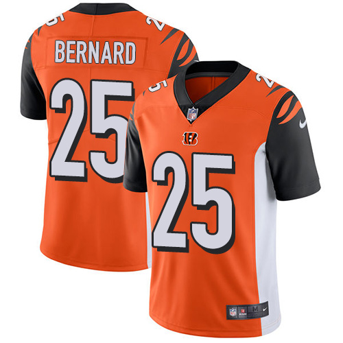 2019 men Cincinnati Bengals 25 Bernard orange Nike Vapor Untouchable Limited NFL Jersey