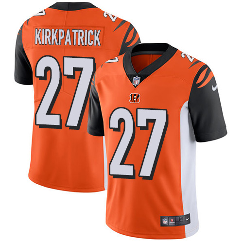 2019 men Cincinnati Bengals 27 Kirkpatrick Orange Nike Vapor Untouchable Limited NFL Jersey