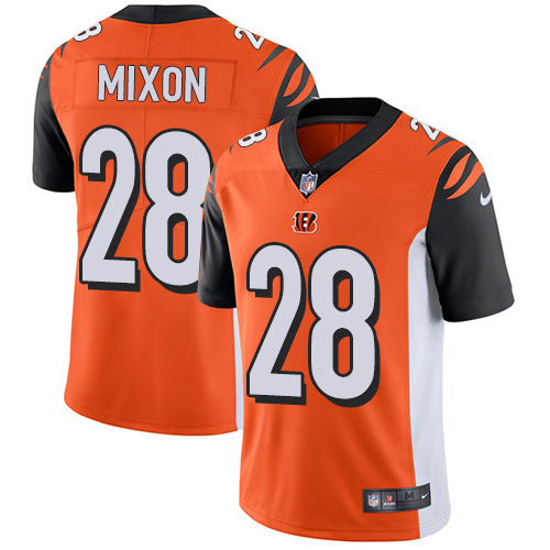 2019 men Cincinnati Bengals 28 Mixon orange Nike Vapor Untouchable Limited NFL Jersey