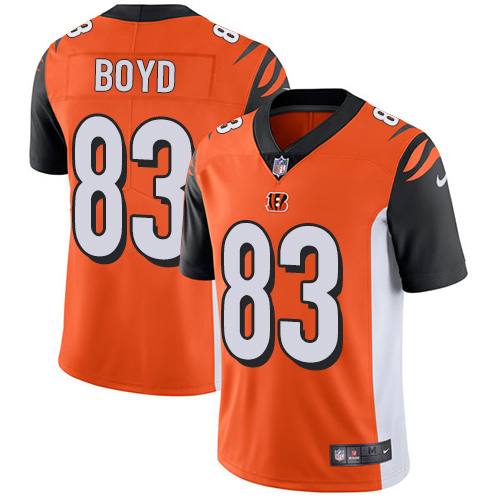 2019 men Cincinnati Bengals 83 Boyd orange Nike Vapor Untouchable Limited NFL Jersey